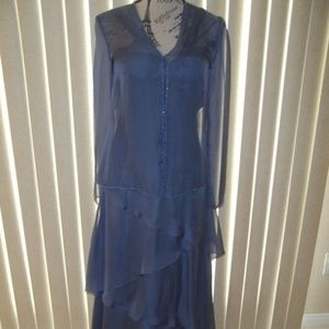 NWT! JEAN DE LYS PERIWINKLE MOB/FORMAL GOWN SIZE 6